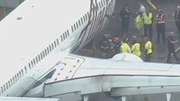 Plane makes emergency landing after worker trapped in cargo hold