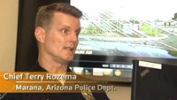 Police in Arizona slam vehicle into suspect carrying a rifle