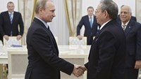 Russia's Putin meets Cuban leader Raul Castro in Moscow