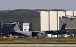 Two Airbus A400M military transport planes are pictured at an assembly plant in the Andalusian capital of Seville May 10, 2015. Photo: Reuters