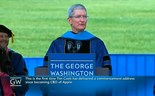 Apple CEO touts iPhone, praises Silicon Valley in commencement speech