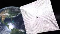 Solar sail ready for deployment test