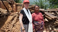 Hollywood actress Susan Sarandon visits quake-hit Nepal