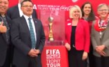 FIFA and sponsor Coca-cola try to keep focus on Women's World Cup trophy tour