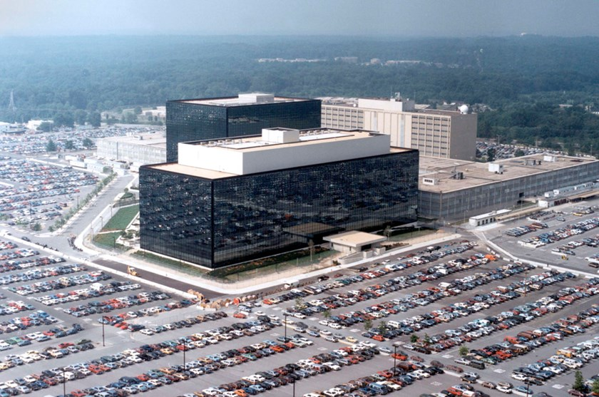 An undated aerial handout photo shows the National Security Agency (NSA) headquarters building in Fort Meade, Maryland. The NSA spying program that collects data about millions of Americans' phone calls is illegal, a federal appeals court ruled on Thursda