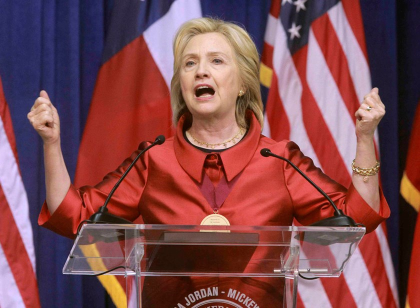Democratic Presidential candidate Hillary Clinton speaks about voting rights during an appearance at Texas Southern University in Houston, Texas June 4, 2015. Photo: Reuters
