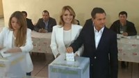 Pena Nieto casts vote in Mexico election as protesters burn ballot papers