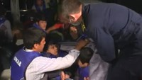 Greek coast guard rescues migrants heading for Europe