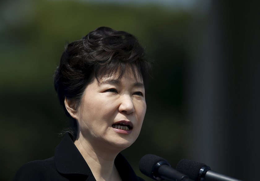 South Korean President Park Geun-hye. Photo: Reuters
