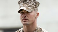 U.S. Marine Sgt. Lawrence G. Hutchins III arrives for his Article 32 Investigation hearing at Camp Pendleton, California in this October 16, 2006 file photo. Photo: Reuters