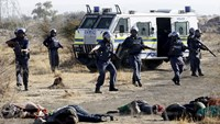 Company, police, unions blamed for South African miners' deaths