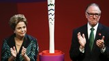 Olympic torch unveiled in Brazil