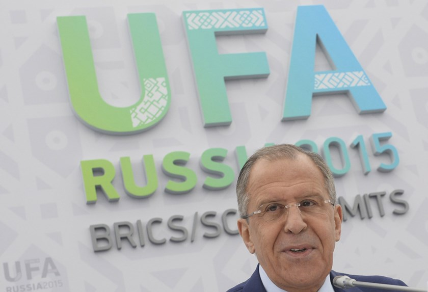 Russia's Foreign Minister Sergei Lavrov attends a news briefing in Ufa, Russia, July 9, 2015. Photo: Reuters