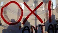 Greek protesters denounce terms of European bailout deal