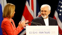 "Iran's Zarif, EU say nuclear deal is ""new chapter"""