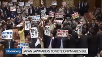 Japanese lawmakers to vote on Shinzo Abe's bill