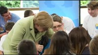 Angela Merkel tells teenager she can't stay in Germany