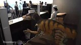 Dinosaur greets guests at Japan's first robot hotel