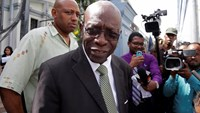 Former FIFA Vice President Jack Warner appears in a Trinidad and Tobago court