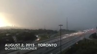 Timelapse footage of Toronto storm that caused power cut for thousands