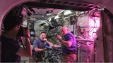 Astronauts bite into first salad grown in space
