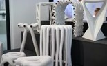 Furniture fashioned from 3D printing waste