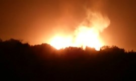 Tashkent pipeline blast lights up night sky
