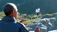 Obama shoots Alaska video with 'selfie' stick