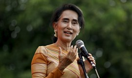 Myanmar's Suu Kyi calls for free and fair elections as campaign starts