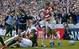 Japan's joy at surprise rugby win