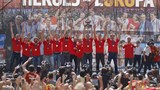 Spain's victorious basketball team return home with European trophy