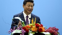 China's President seeks to reassure CEOs, politicians