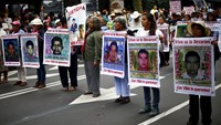 Mexicans march on anniversary of students' disappearance