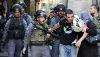 Israeli police and Palestinians clash on Jewish holiday