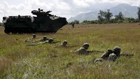 U.S. and Philippine troops hold joint drills
