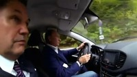 Behind the wheel with Putin