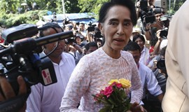 Myanmar's Suu Kyi poised for landslide win