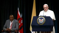 Pope in Kenya calls for environmental action