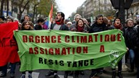 Biggest day ever of climate action, scuffles in Paris