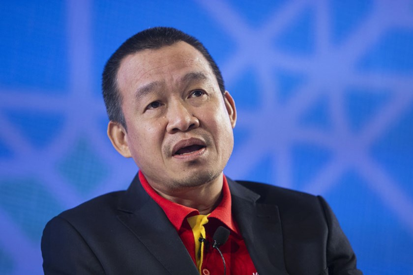 Luu Duc Khanh, managing director of VietJet Aviation Joint Stock Co., speaks during the Bloomberg ASEAN Business Summit in Bangkok, Thailand, on December 3, 2015. Photo: Brent Lewin/Bloomberg