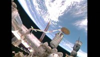 Orbital cargo ship arrives at space station
