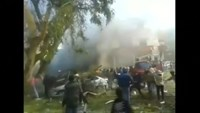 Chaotic scenes in Syria after deadly twin blasts