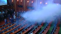 Teargas released in Kosovo Parliament again