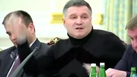 Ukraine minister throws glass of water at governor in spat