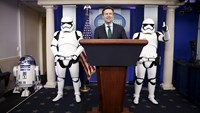 Stormtroopers, R2-D2 take over the White House