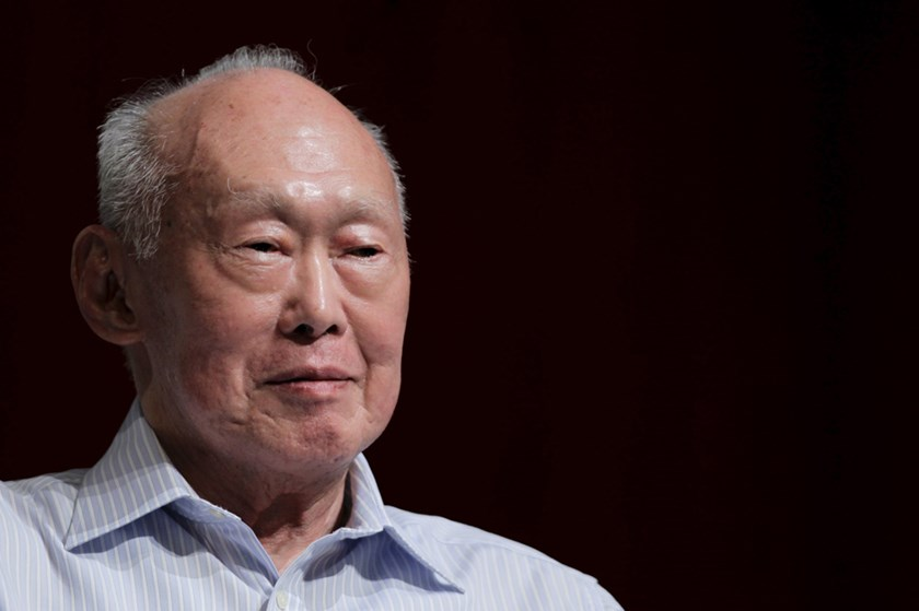 Singapore's first prime minister Lee Kuan Yew died on March 23, 2015 aged 91. REUTERS/Tim Chong