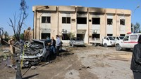Truck bomb kills nearly 50 at Libyan police training center