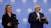 E.U.'s Moghirini: Iran sanctions immediately lifted