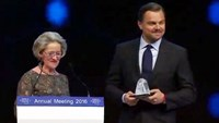DiCaprio receives climate change award