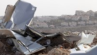 Israel says will seize West Bank land; demolishes EU structures